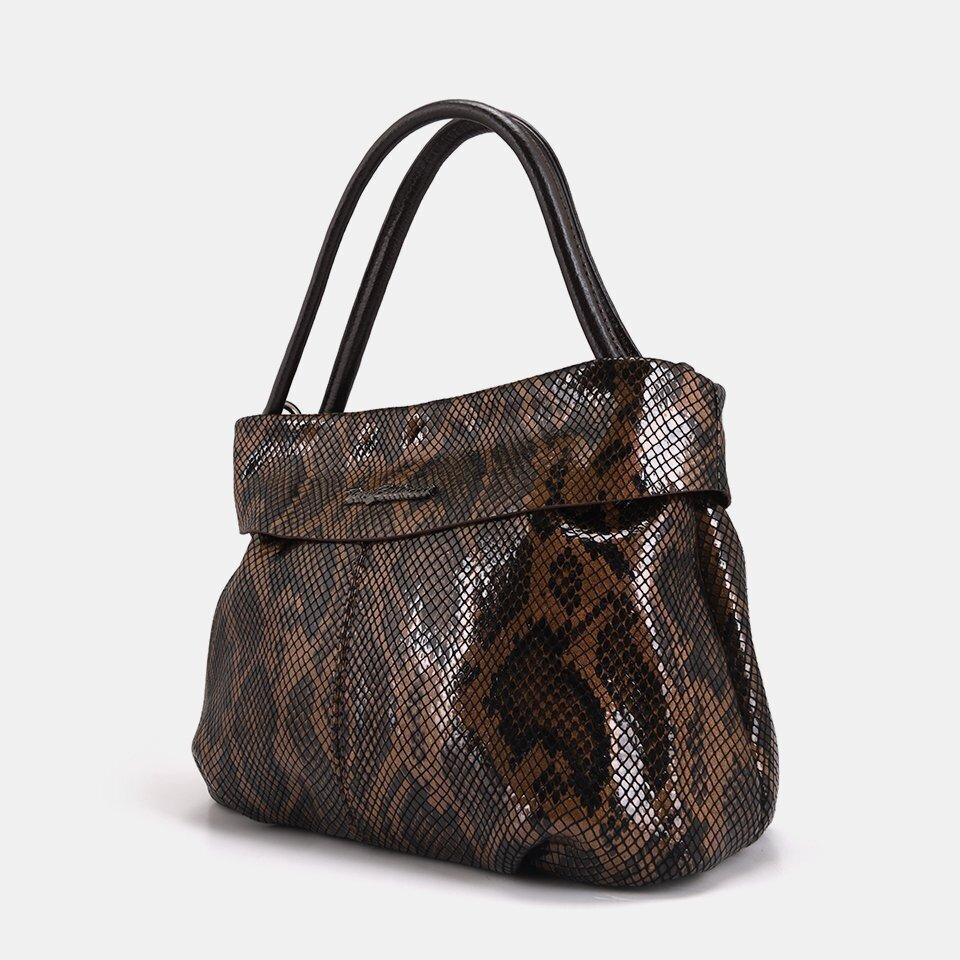 resm Hakiki Deri Kahve Kadın Mini (Çapraz) Çanta