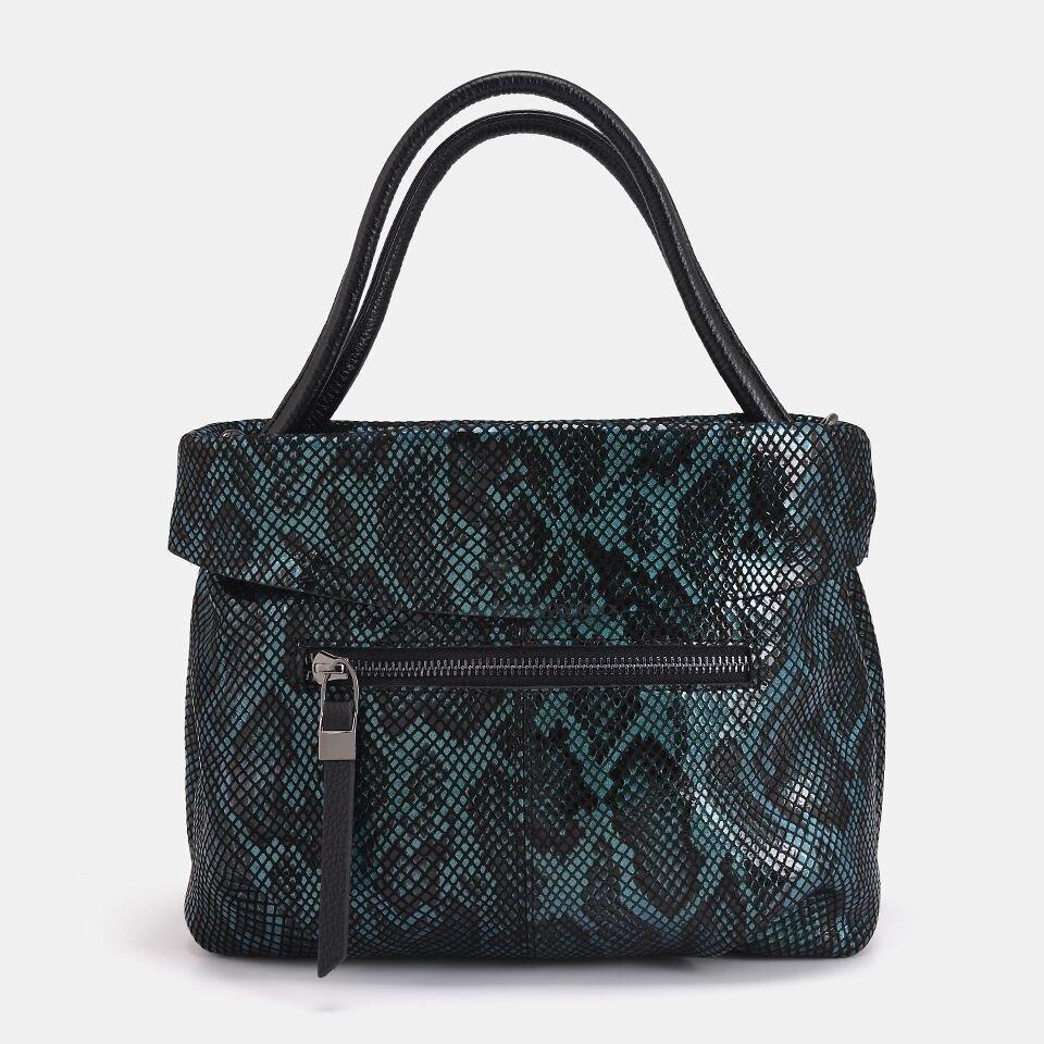 resm Hakiki Deri Yeşil Kadın Mini (Çapraz) Çanta