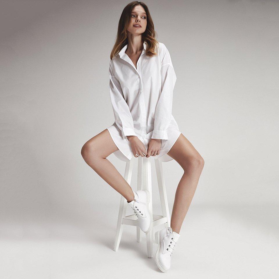 resm  Beyaz Kadın Düz Bot