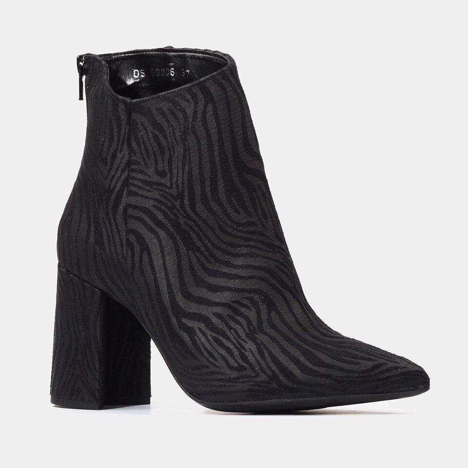 resm Tekstil Siyah Kadın Topuklu Bot