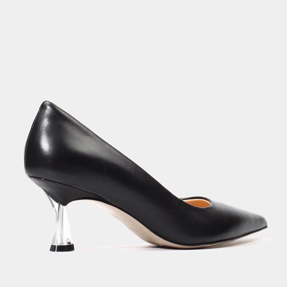 resm Hakiki Deri Siyah Kadın Stiletto
