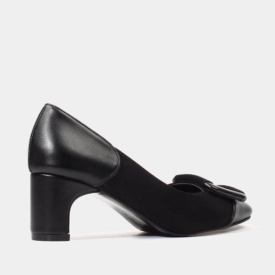 resm  Siyah Yaya Topuklu Ayakkabı