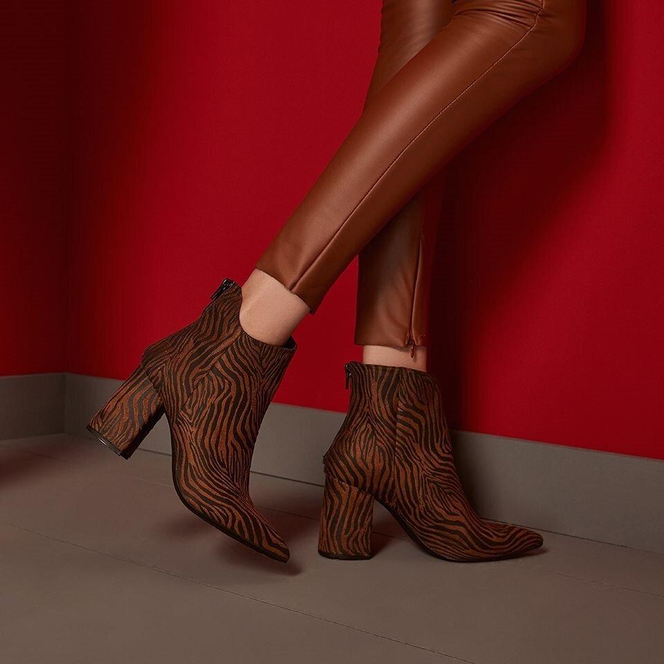 resm Tekstil Taba Kadın Topuklu Bot