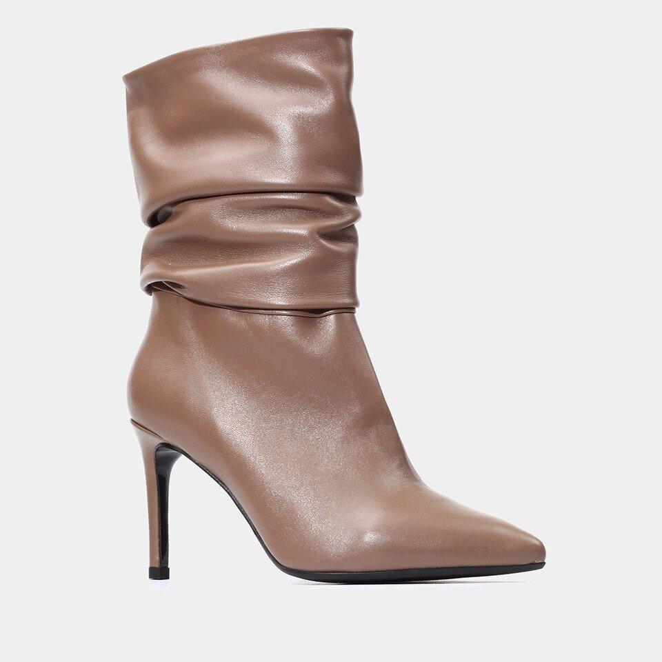resm Hakiki Deri Vizon Kadın Çizme