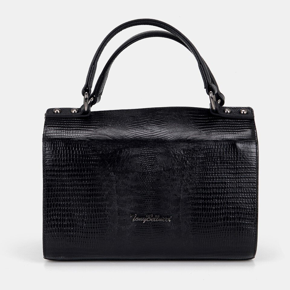 Hotiç - 03CAH166190A100 - Hakiki Deri Siyah Kadın Mini (Çapraz) Çanta