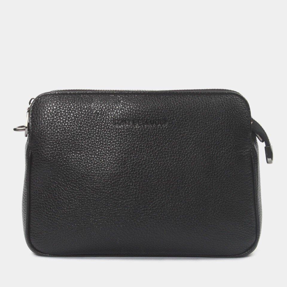 Hotiç - 03CAH172330A100 - Hakiki Deri Siyah Kadın Mini (Çapraz) Çanta