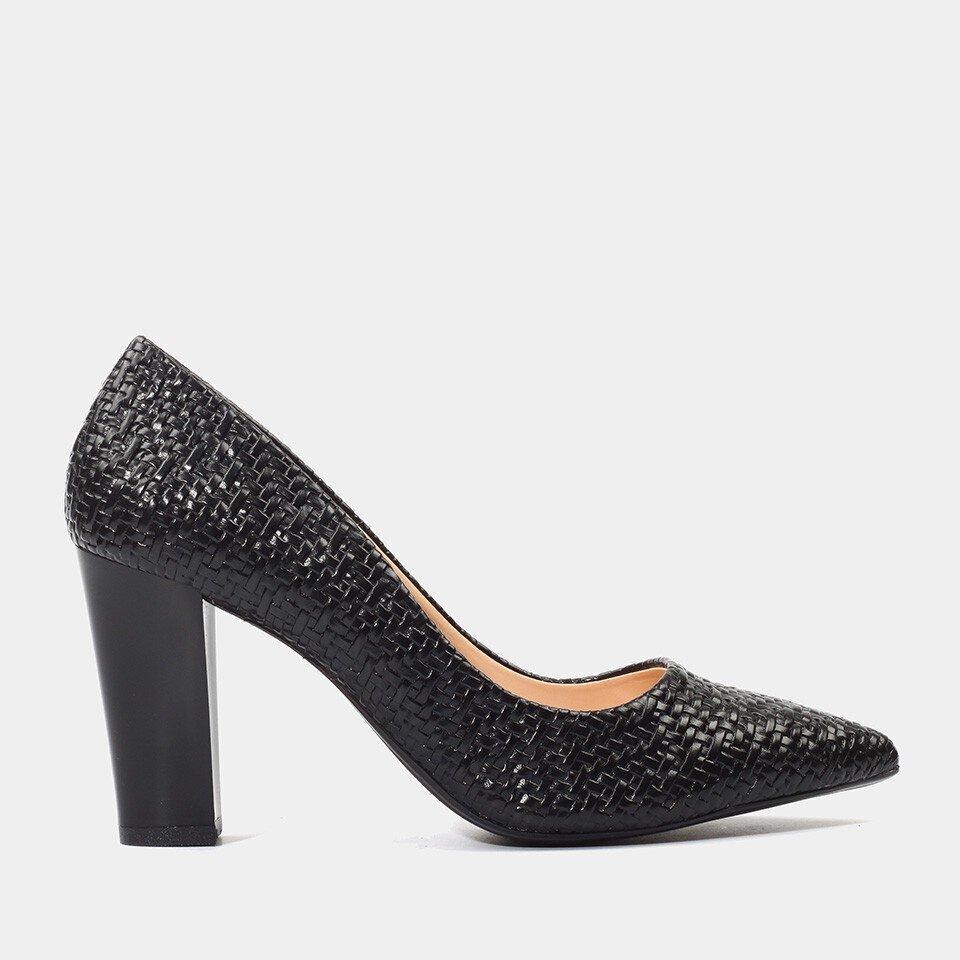 Hotiç - 01AYH175980A100 - Siyah Kadın Kalın Topuk