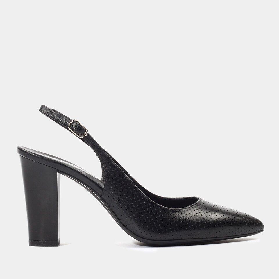 Hotiç - 01AYH175900A100 - Hakiki Deri Siyah Kadın Stiletto