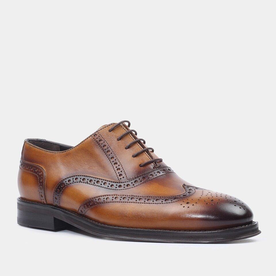 resm Hakiki Deri Taba Erkek Klasik Ayakkabı