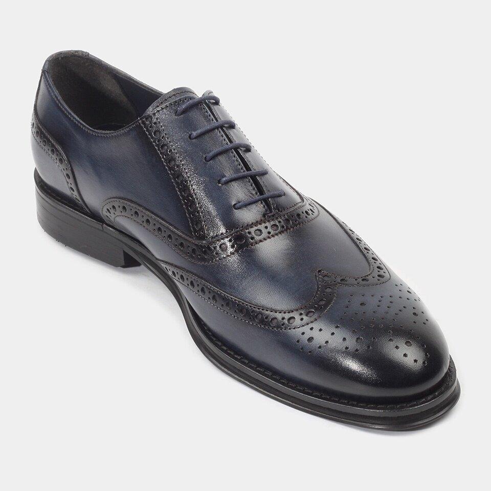 resm Hakiki Deri Lacivert Erkek Klasik Ayakkabı