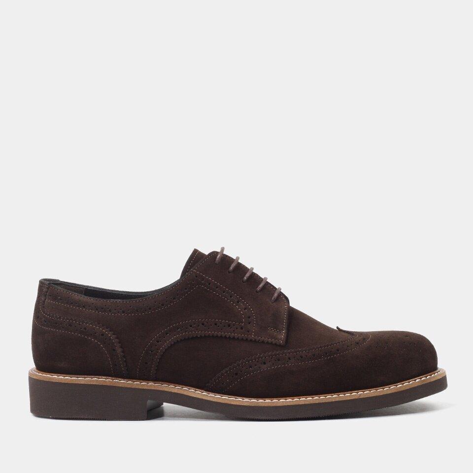 Hotiç - 02AYH151760A480 - Hakiki Deri Kahve Erkek Günlük Ayakkabı