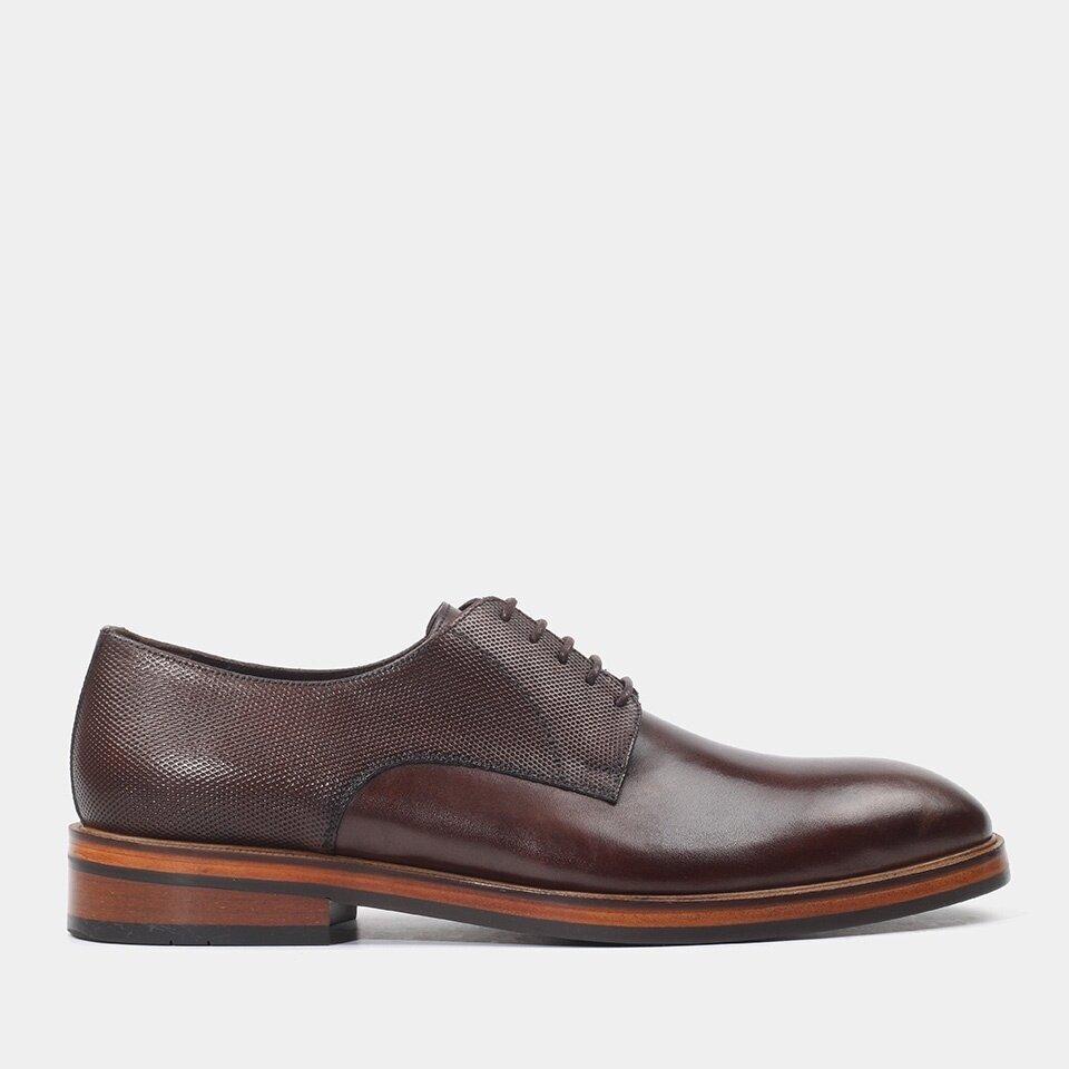 Hotiç - 02AYH158970A480 - Hakiki Deri Kahve Erkek Günlük Ayakkabı