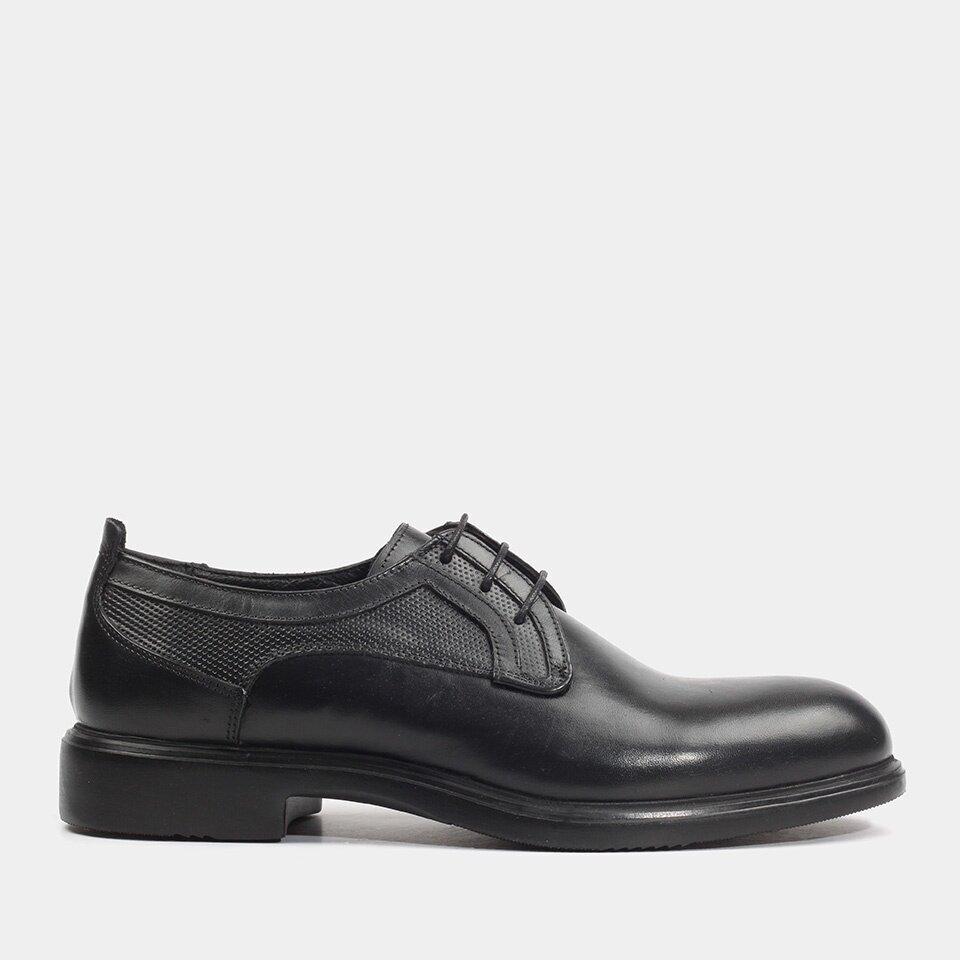 Hotiç - 02AYH172460A100 - Hakiki Deri Siyah Erkek Günlük Ayakkabı