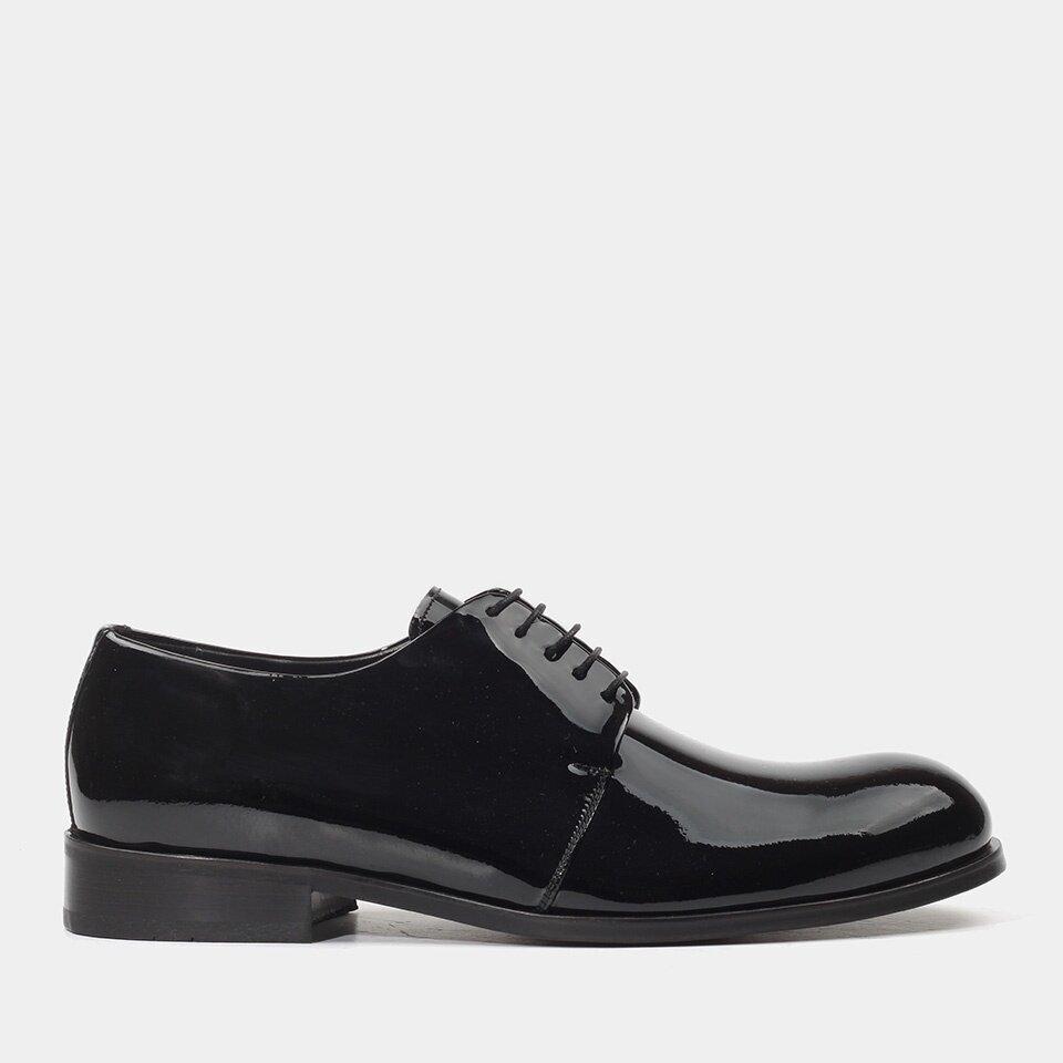 Hotiç - 02AYH176480A100 - Hakiki Deri Siyah Erkek Klasik Ayakkabı