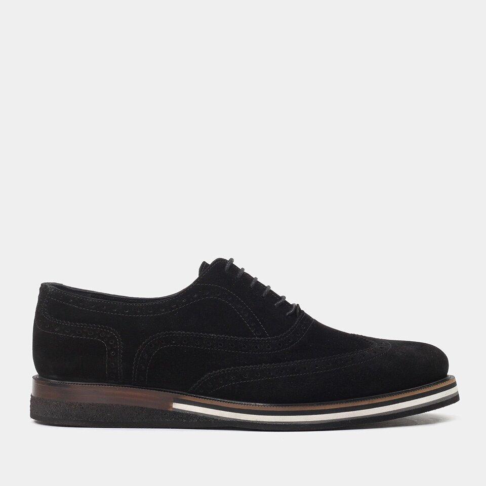 Hotiç - 02AYH176570A100 - Hakiki Deri Siyah Erkek Klasik Ayakkabı