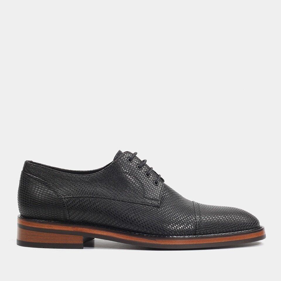 Hotiç - 02AYH176630A100 - Hakiki Deri Siyah Erkek Günlük Ayakkabı
