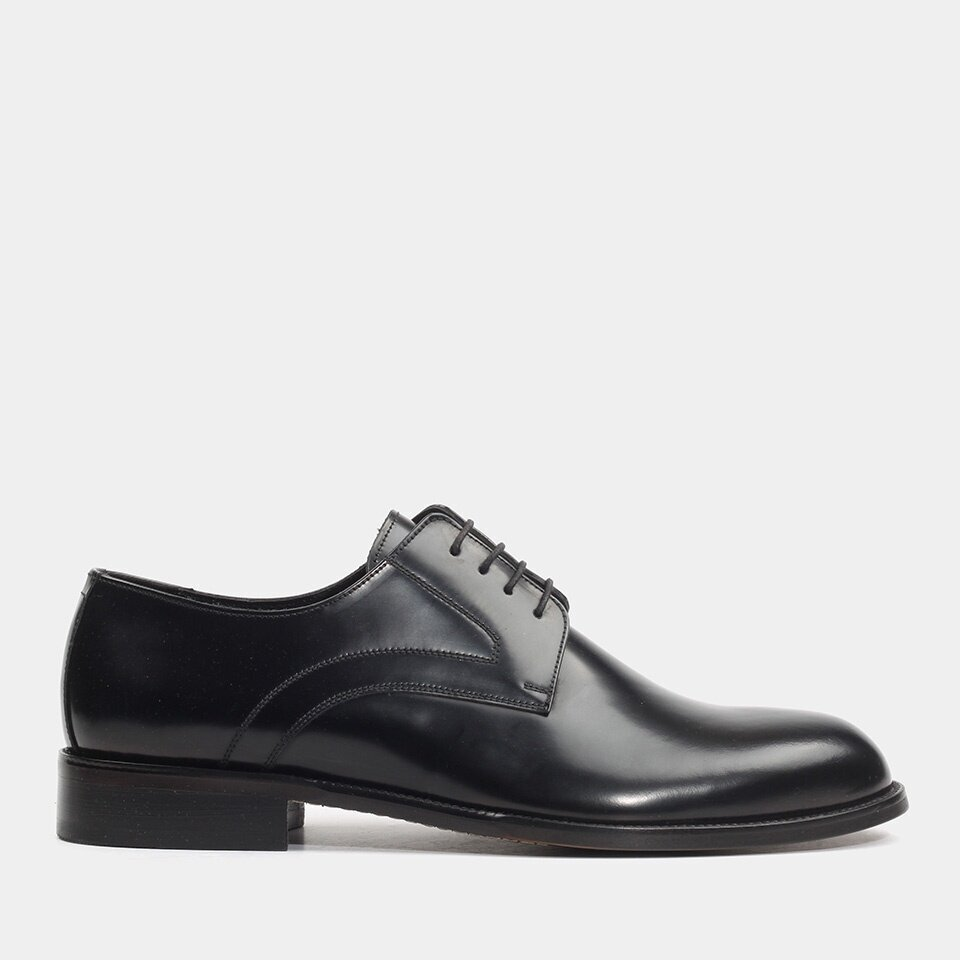 Hotiç - 02AYH176740A100 - Hakiki Deri Siyah Erkek Klasik Ayakkabı