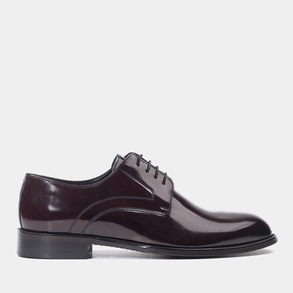 Hotiç - 02AYH176740A780 - Hakiki Deri Bordo Erkek Klasik Ayakkabı