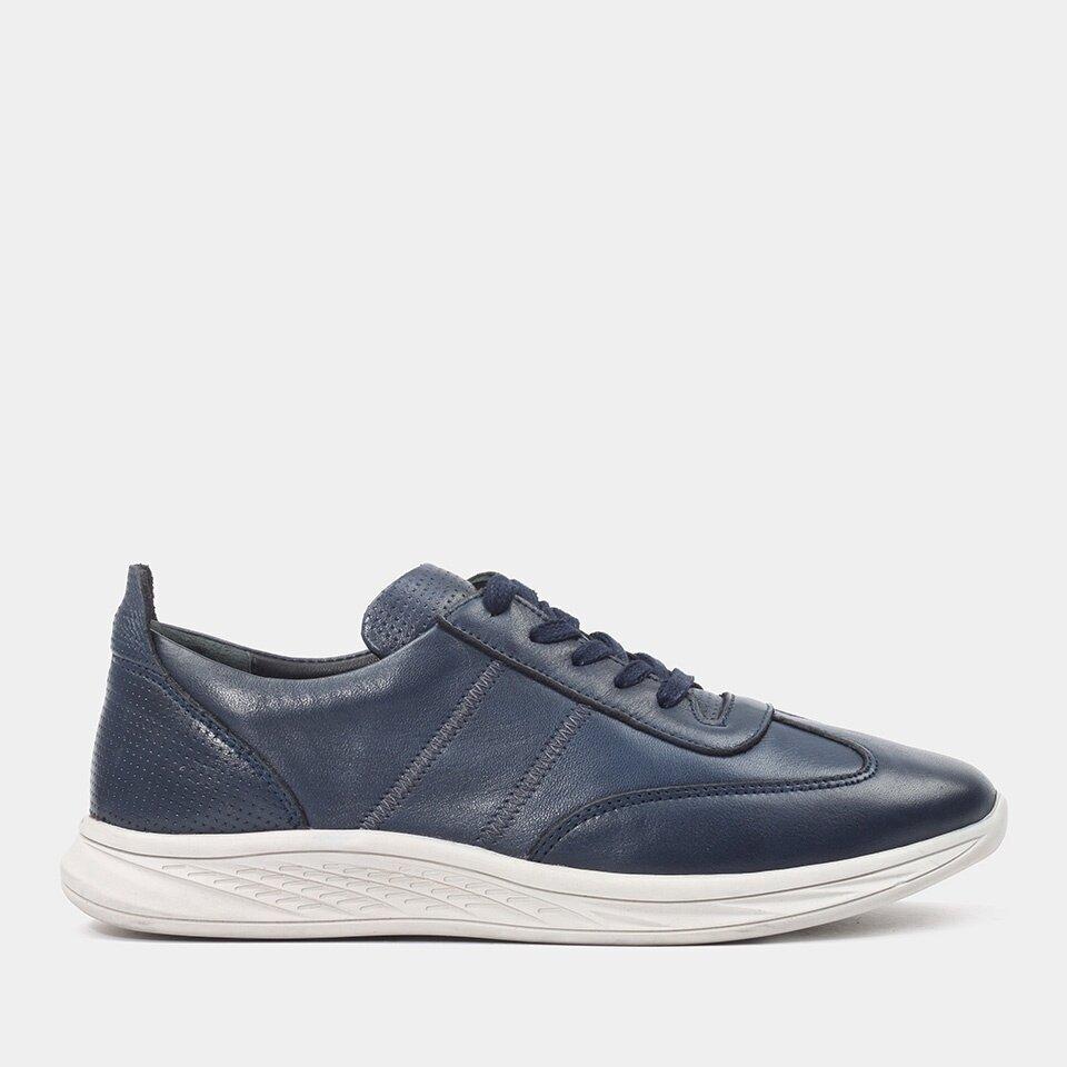 Hotiç - 02AYH181400A680 - Hakiki Deri Lacivert Erkek Spor Ayakkabı