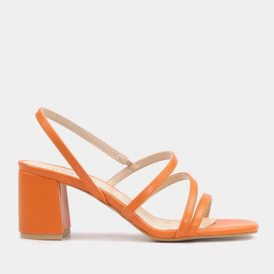 resm  Turuncu Kadın Topuklu Sandalet