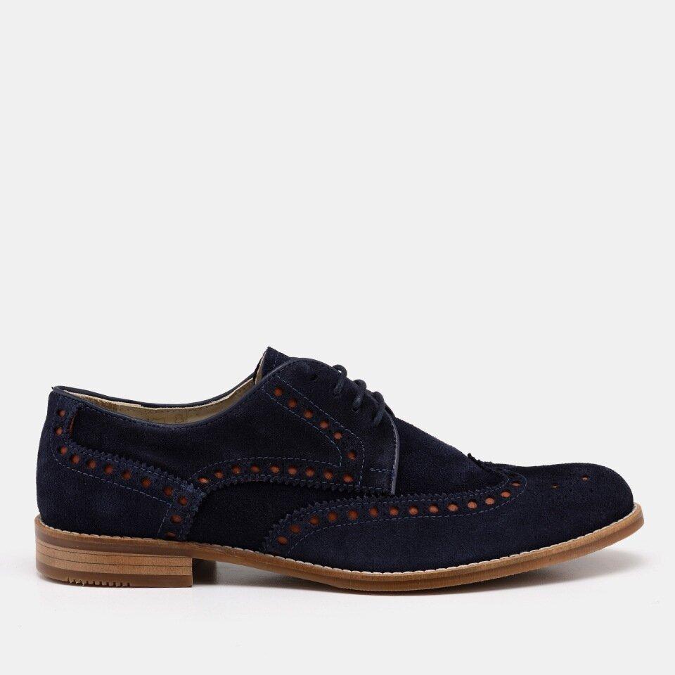 resm Hakiki Deri Lacivert Erkek Günlük Ayakkabı