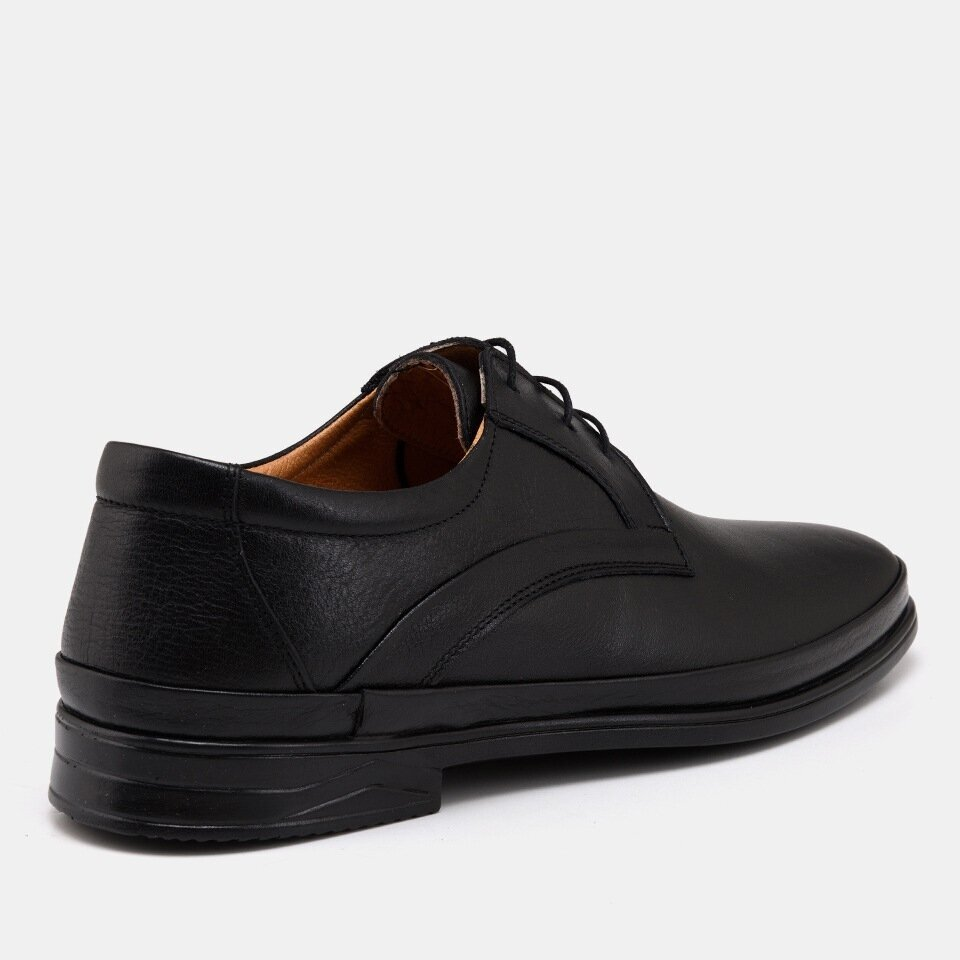 resm Hakiki Deri Siyah Yaya Günlük Ayakkabı