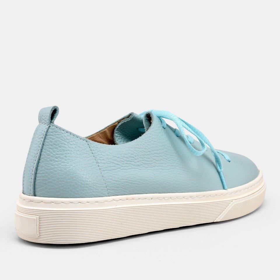 resm Hakiki Deri Mavi Kadın Spor Ayakkabı