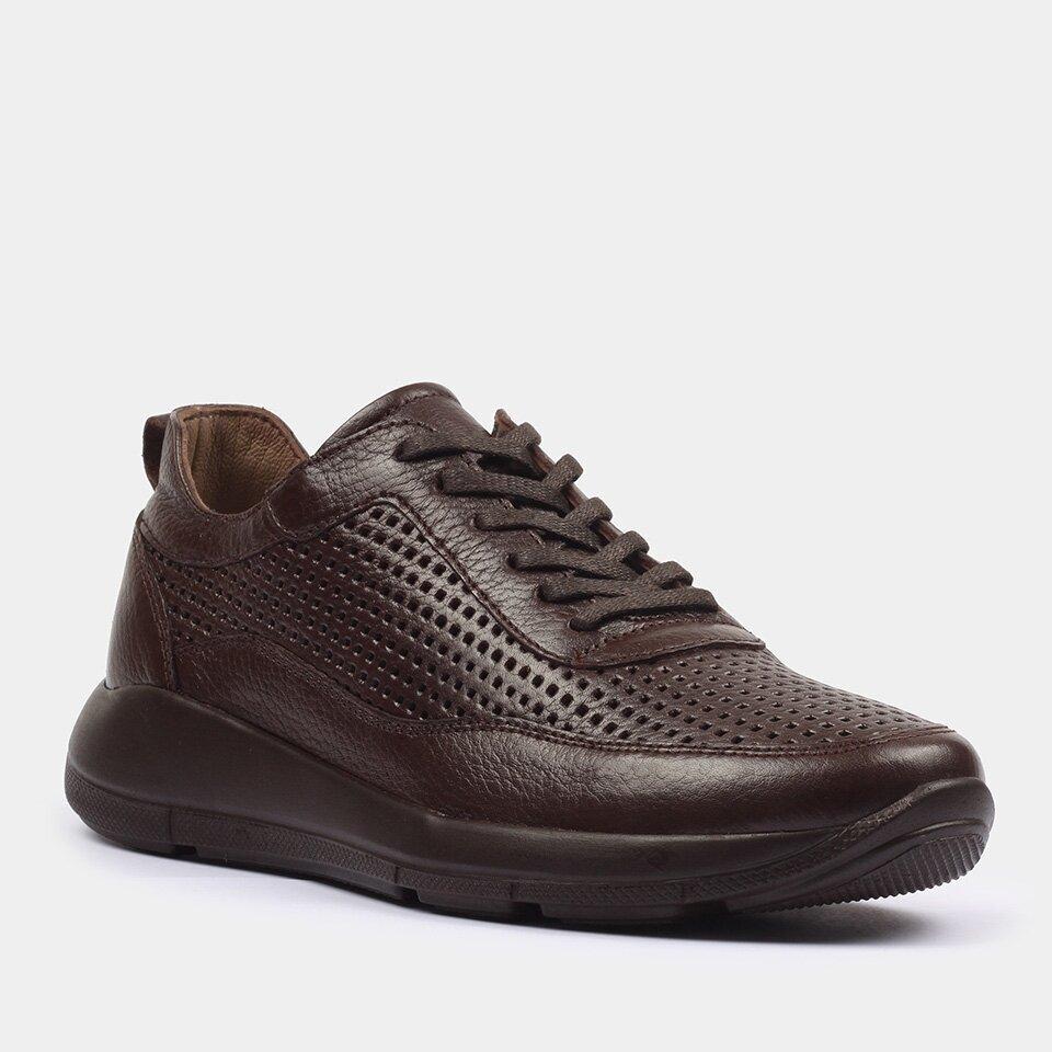 resm Hakiki Deri Kahve Yaya Spor Ayakkabı