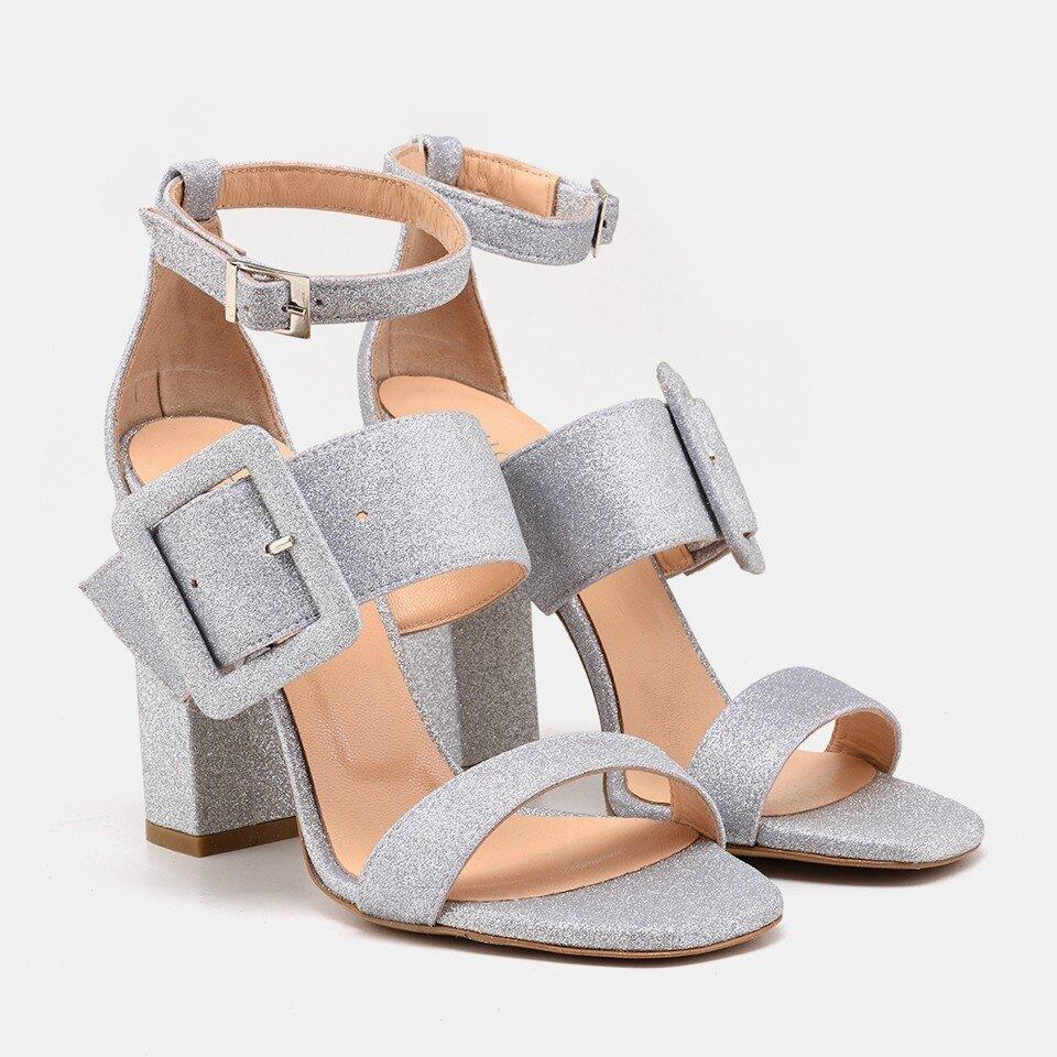 resm  Lame Kadın Topuklu Sandalet