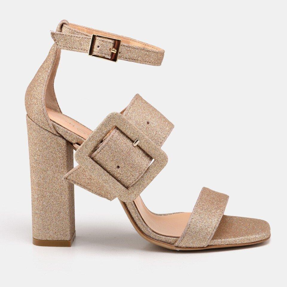 resm Gold Kadın Topuklu Sandalet