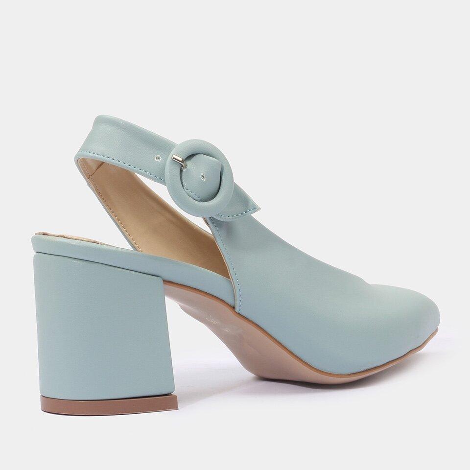 resm Yaya Kadın Açık Mavi Topuklu Ayakkabı