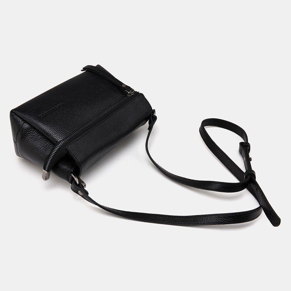 resm Hakiki Deri Siyah Kadın Mini (Çapraz) Çanta
