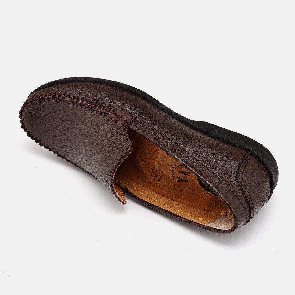 resm Hakiki Deri Kahve Yaya Günlük Ayakkabı