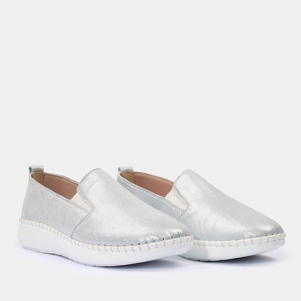 resm Hakiki Deri Mavi Yaya Günlük Ayakkabı