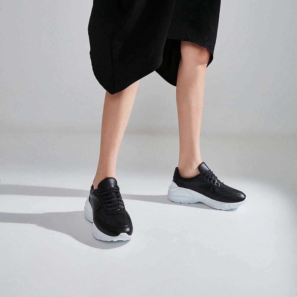 Hotiç - 01AYH175480A100 - Siyah Kadın Spor Ayakkabı