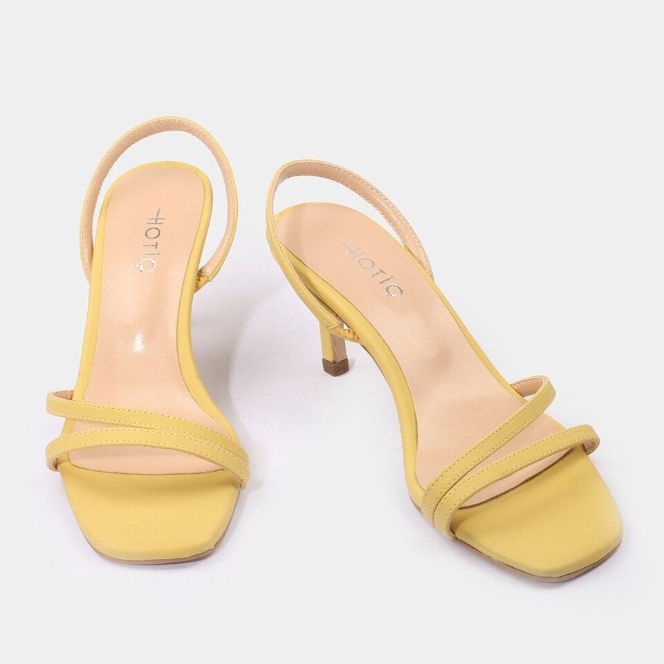 resm Sarı Kadın Topuklu Sandalet