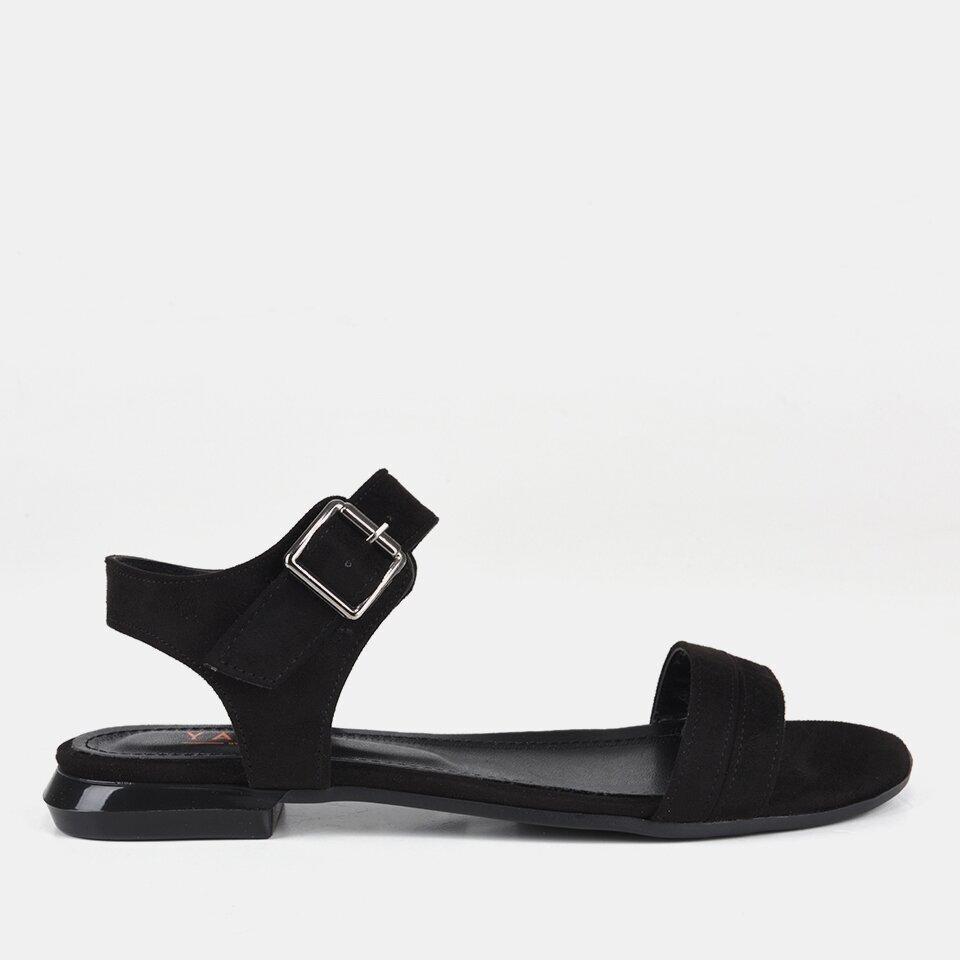 resm Siyah Yaya Kadın Sandalet