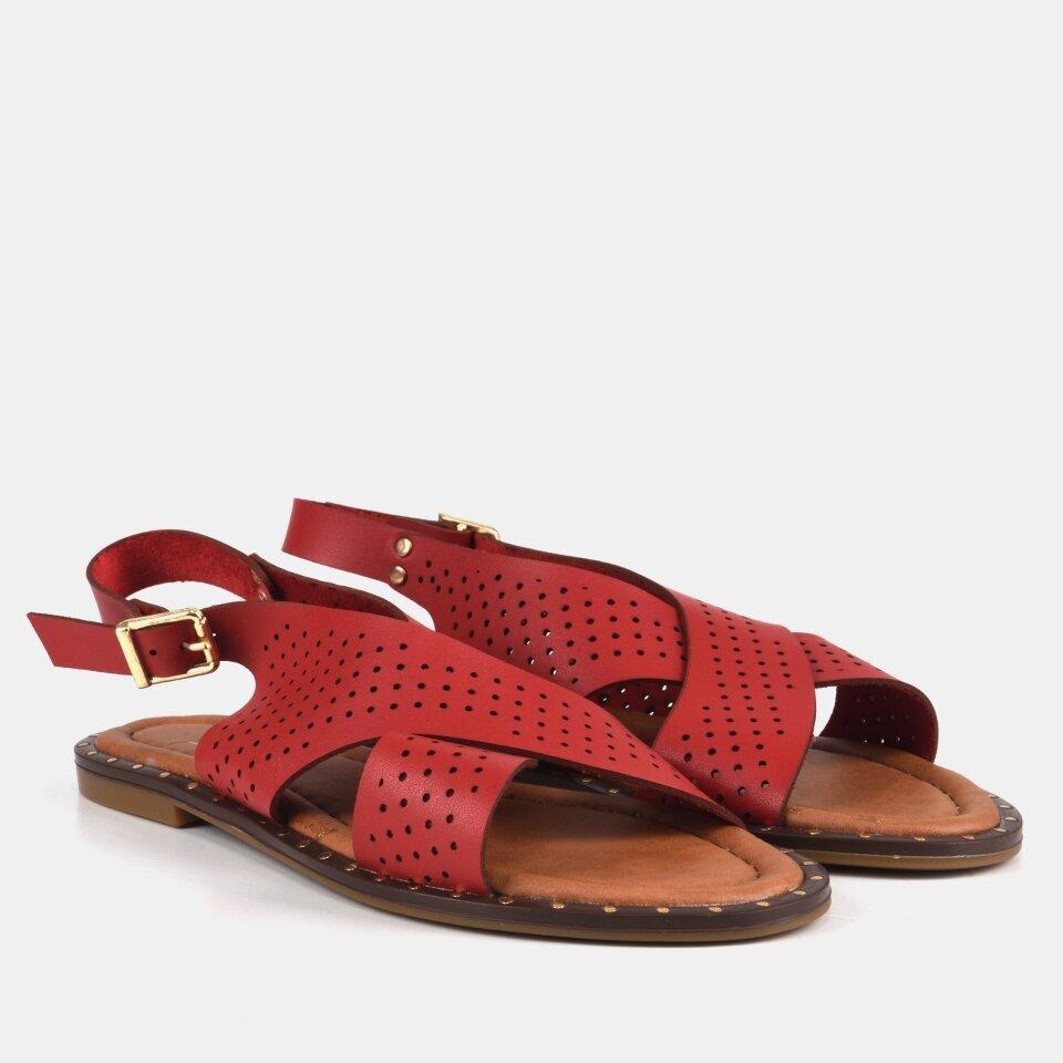 resm Kırmızı Yaya Kadın Sandalet