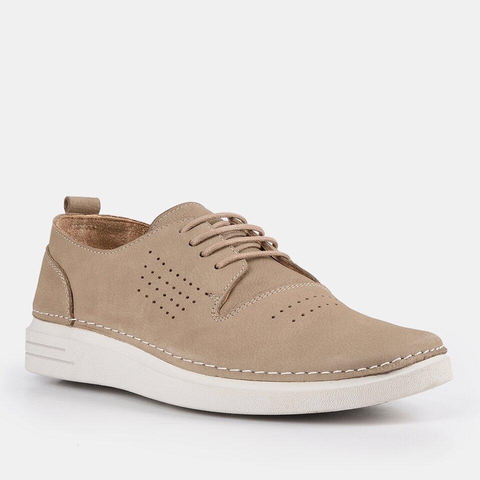 resm Hakiki Deri Bej Erkek Günlük Ayakkabı