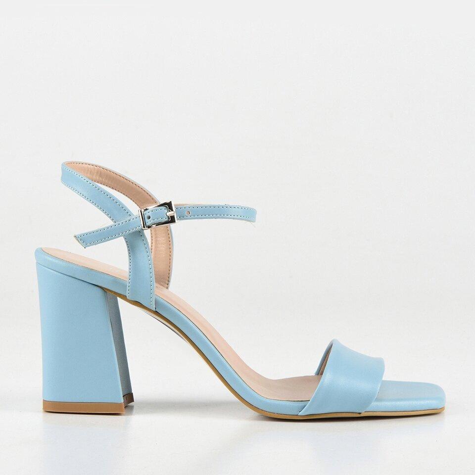 resm Açık Mavi Kadın Topuklu Sandalet
