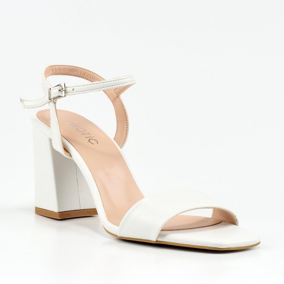 resm Beyaz Kadın Topuklu Sandalet