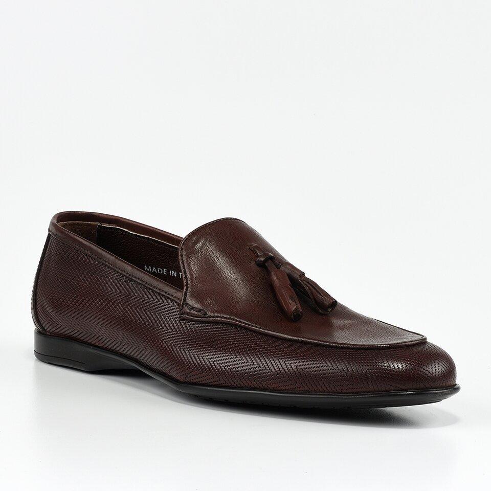 resm Hakiki Deri Kahve Erkek Loafer