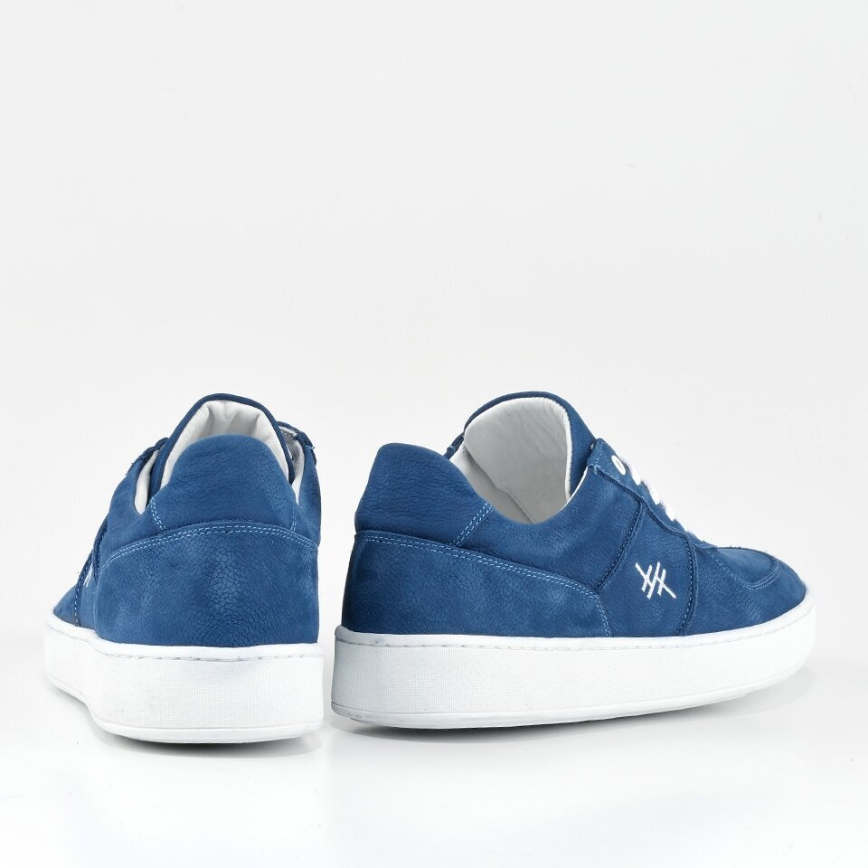 resm Hakiki Deri Mavi Erkek Spor Ayakkabı