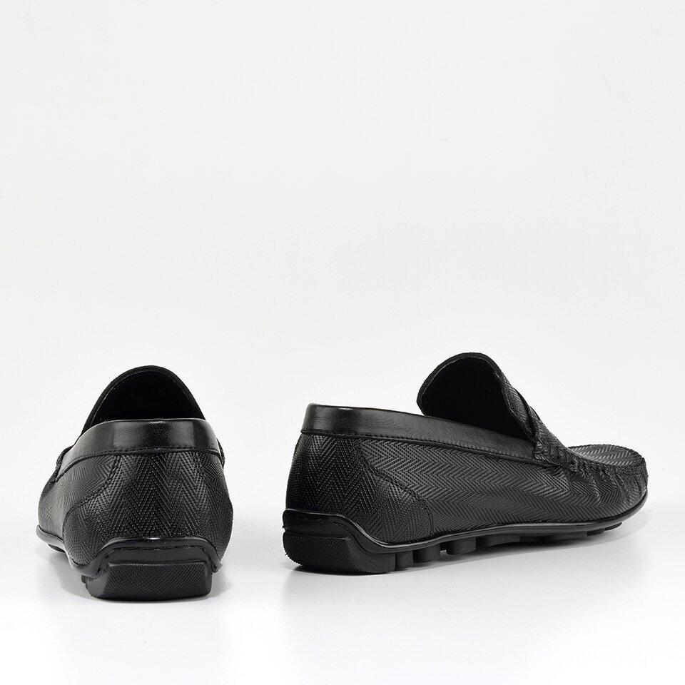 resm Hakiki Deri Siyah Erkek Loafer