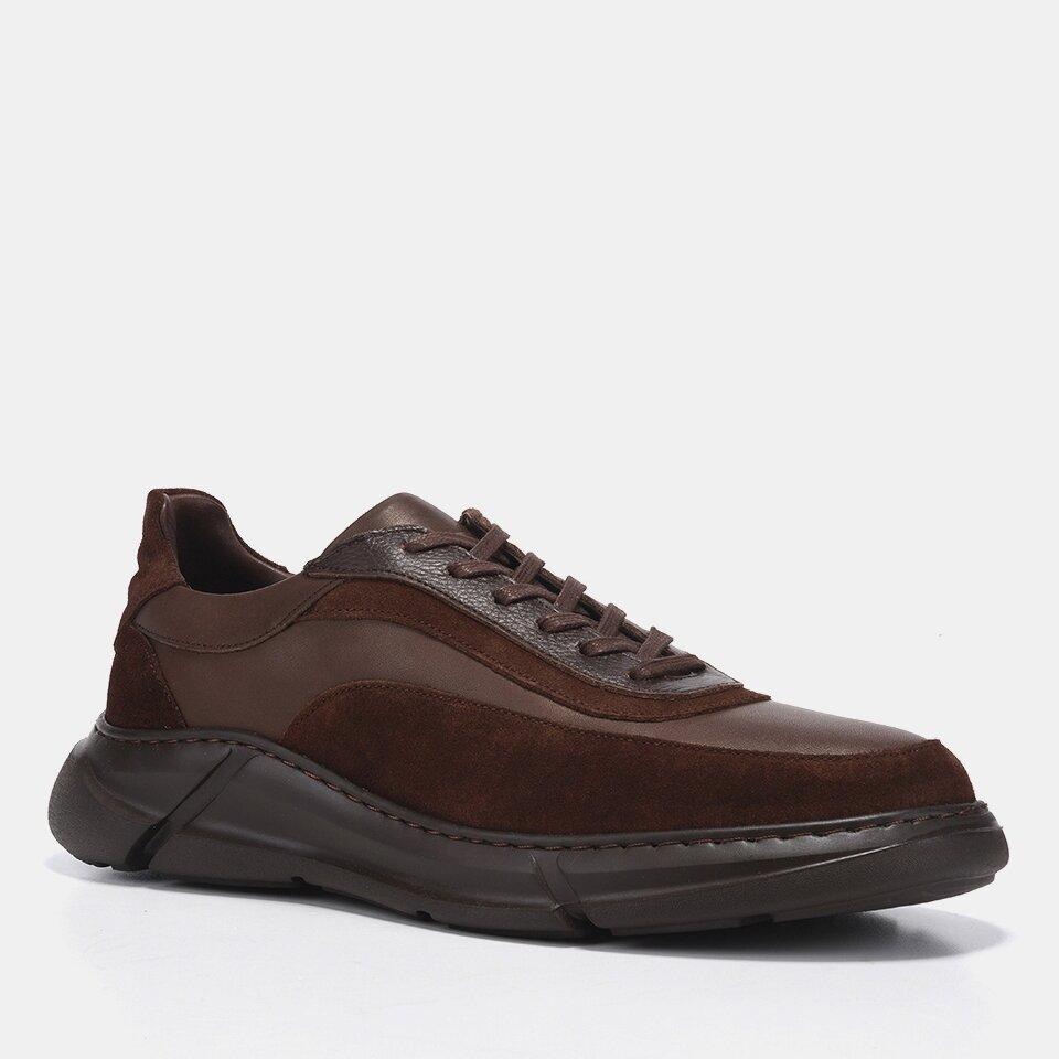 resm Hakiki Deri Kahve Erkek Spor Ayakkabı