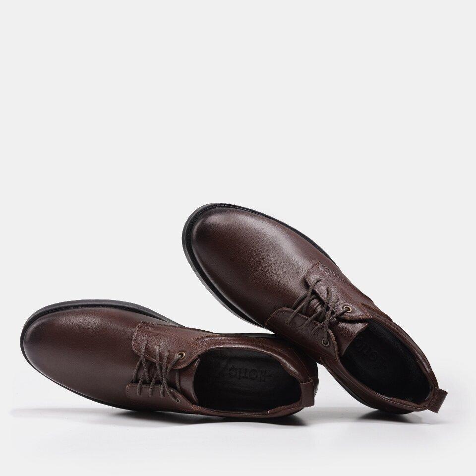 resm Hakiki Deri Kahve Yaya Erkek Günlük Ayakkabı