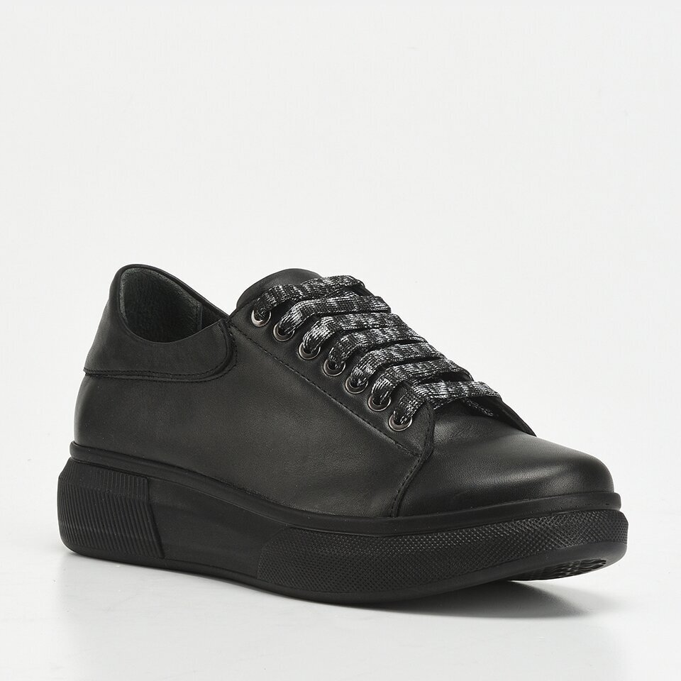 resm Hakiki Deri Siyah Yaya Kadın Günlük Ayakkabı