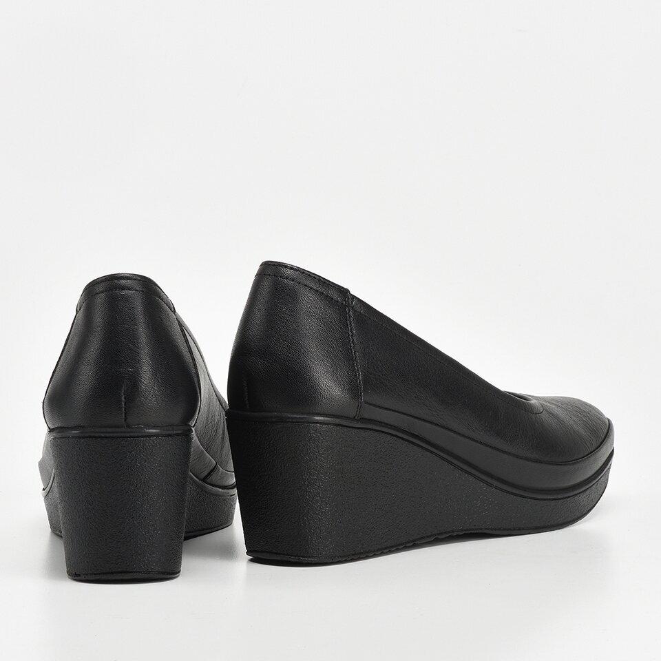 resm Hakiki Deri Siyah Kadın Dolgu Topuk