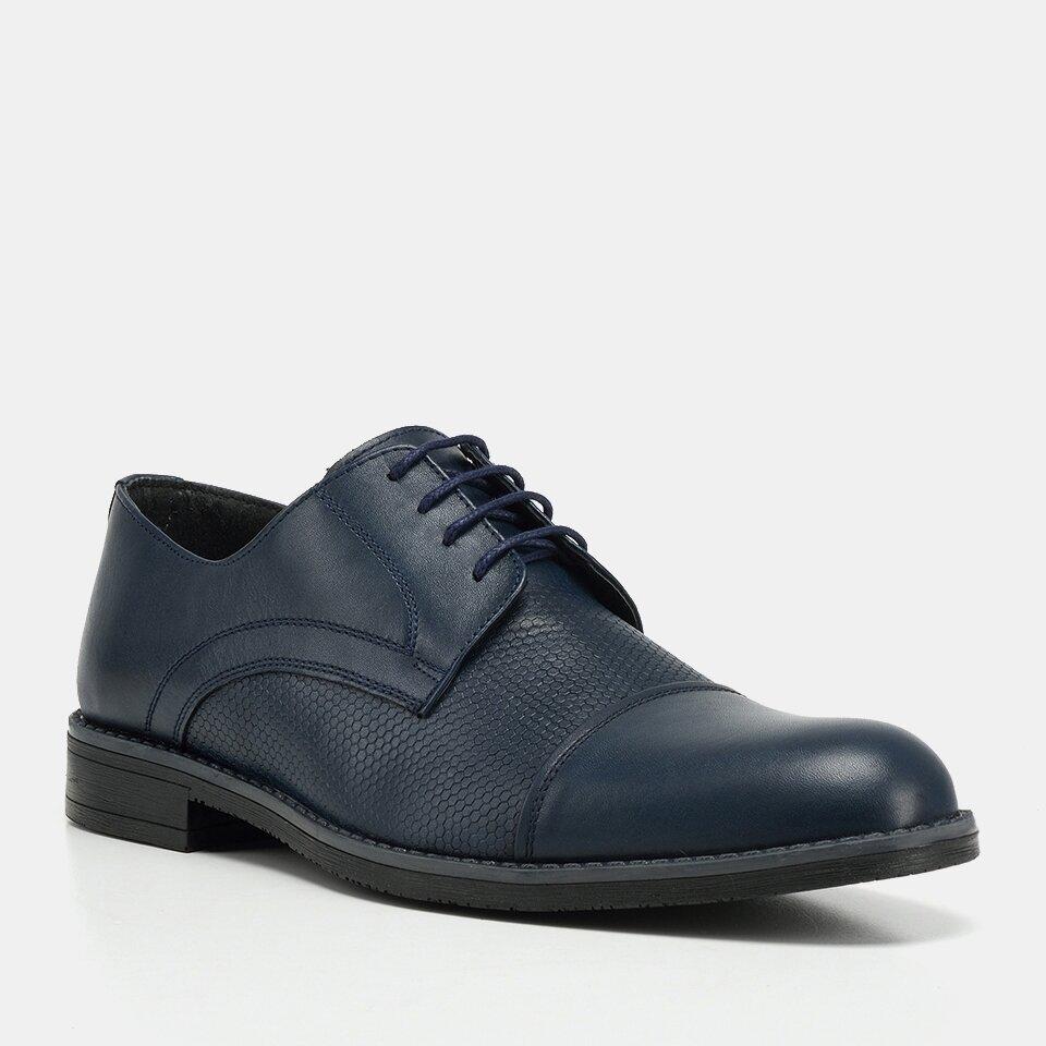 resm Hakiki Deri Lacivert Yaya Erkek Günlük Ayakkabı