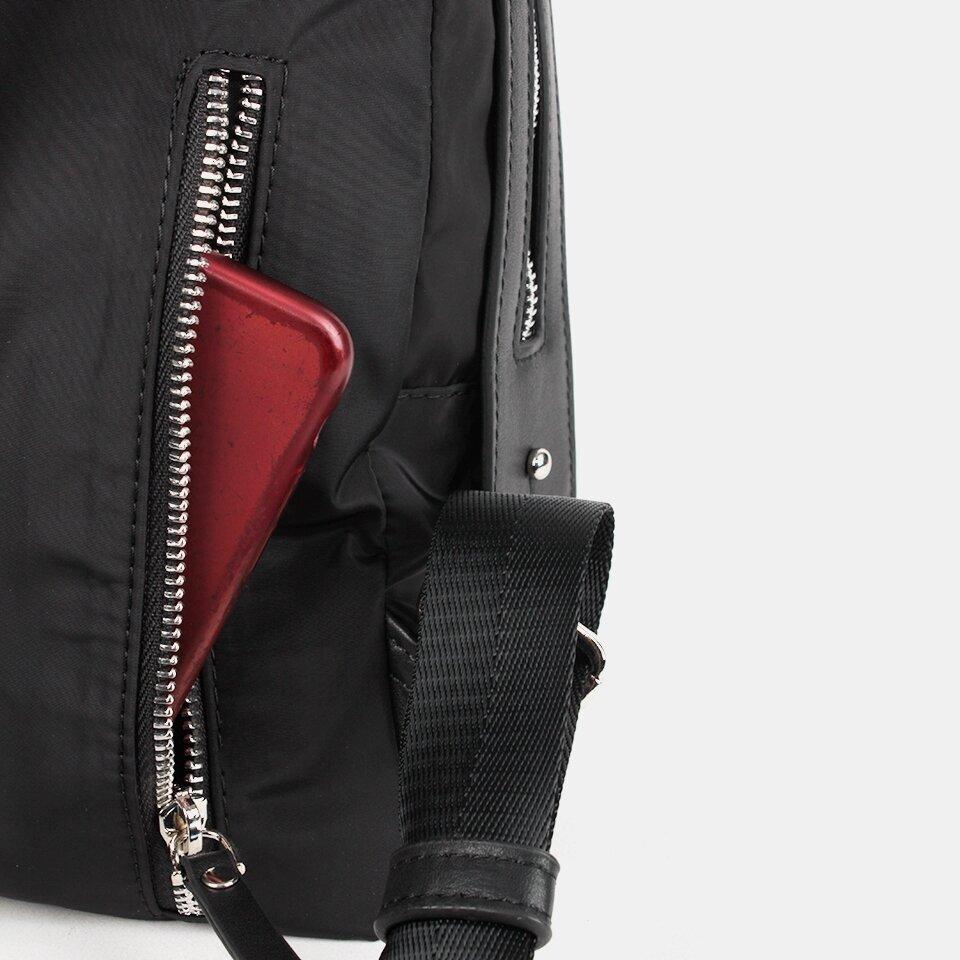 resm Tekstil ve Hakiki Deri Siyah Kadın Sırt Çantası